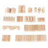 Wooden Blocks-65 Pc. Classic Building Set with Storage Bag-Stacking, Sorting, and Shape Recognition STEM Learning Toy for Preschoolers by Hey! Play!