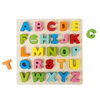 Wooden Alphabet Puzzle Board with Colorful Wood Letters- Educational Toy for Learning Alphabet, Spelling, and Words for Boys and Girls by Hey! Play!