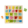 Wooden Number Puzzle Board with Colorful Pieces and Math Signs- STEM Toy for Learning Numbers, Counting, Math for Boys and Girls by Hey! Play!
