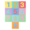Foam Number Crawling Mat- Nontoxic EVA Soft Mat for Learning 0-9 Numbers and Counting for Babies and Toddlers with 10 Colorful Squares by Hey! Play!