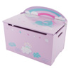 Toy Box-Storage Bench Seat - Kids-Organization Chest-Toys, Stuffed Animals, Clothes, Blankets-Bedroom, Playroom Furniture by Hey! Play! (Purple/Pink)