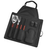 Chef Buddy 7 Piece BBQ Black Apron and Utensil Set