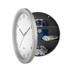 Hidden Compartment Wall Clock?10? Battery Operated Working Analog Clock with Secret Interior Storage for Jewelry, Cash, Valuables and More by Stalwart