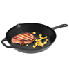 Pre-Seasoned Cast Iron Skillet- 12 inch for Home, Camping, Indoor and Outdoor Cooking, Frying, Searing and Baking by Classic Cuisine