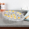 Cold Deviled Egg Tray-Chilled Platter with Ice Compartment-Egg, Fruit, Veggie Holder Serving Dish for Parties, Barbecues, or Events by Classic Cuisine