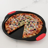Pizza Pan and Cutter Set-13? Nonstick Crisper Tray with Vent Holes for Even Cooking and Easy Grip Silicone Handles-Kitchen Bakeware by Classic Cuisine