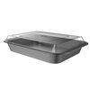 Baking Pan with Lid-2PC Nonstick Rectangular Bakeware Set-9?x13? For Sheet Cake, Brownies, Bars, Lasagna and More-Kitchen Cookware by Classic Cuisine