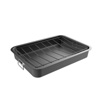 Roasting Pan with Angled Rack-Nonstick Oven Roaster and Removable Tray-Drain Fat and Grease for Healthier Cooking-Kitchen Cookware by Classic Cuisine