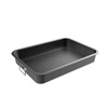 Roasting Pan with Flat Rack-Nonstick Oven Roaster and Removable Tray-Drain Fat and Grease for Healthier Cooking-Kitchen Cookware by Classic Cuisine