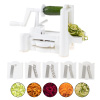 5 Blade Vegetable Spiralizer ? Manual Rotary Cooking Attachment with for Vegan and Vegetarian Vegetable Noodles and Fruit Salad by Classic Cuisine