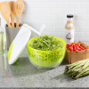 Salad Spinner-3.5 Quart Spinning Strainer, Serving Bowl to Wash, Dry, Serve Lettuce, Vegetables, Fruit, Herbs-Clean Healthy Produce by Classic Cuisine