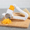 Rotary Grater ? Handheld Manual Crank Shredder Kitchen Cooking Accessory with 3 Drums for Cheese, Chocolate, Nuts and Vegetables by Classic Cuisine