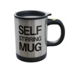 Self Stirring Mug- Reusable Auto Mixing Cup with Travel Lid for Protein Mix, Bulletproof Coffee, Chocolate Milk, Hot Cocoa by Chef Buddy, 15 oz