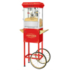 Movie Night Popcorn Popper Machine With Cart-Makes Approx. 3 Gallons Per Batch- by Superior Popcorn Company- (8 oz., Red)