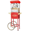 Carnival Popcorn Popper Machine With Cart-Makes Approx. 3 Gallons Per Batch- by Superior Popcorn Company- (8 oz., Red)