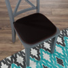Memory Foam Chair Cushion-Square 16?x 16? Chair Pad with Non-Slip Backing for Kitchen, Dining Room, Patio, or Tailgating by Lavish Home (Brown)