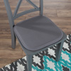 Memory Foam Chair Cushion-Square 16?x 16? Chair Pad with Non-Slip Backing for Kitchen, Dining Room, Patio, or Tailgating by Lavish Home (Dark Gray)
