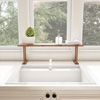 Bamboo Sink Shelf-Countertop Organizer for Kitchen, Bathroom, Bedroom, Office-Space Saving Storage for Soap, Sponges, Cleaners and More by Lavish Home