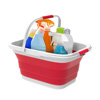 Collapsible Basket-Space Saving Pop Up Handbasket for Supplies, Dishes, Drinks, and More-Foldable Multiuse Carrying/Storage Bin by Lavish Home (Red)