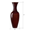 Villacera Handcrafted 28? Tall Brown Bamboo Vase | Decorative Classic Floor Vase for Silk Plants, Flowers, Filler Decor | Sustainable Bamboo