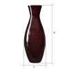 Villacera Handcrafted 20? Tall Brown Bamboo Vase | Decorative Classic Floor Vase for Silk Plants, Flowers, Filler Decor | Sustainable Bamboo