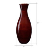 Villacera Handcrafted 18? Tall Brown Bamboo Vase | Decorative Glazed Hana Vase for Silk Plants, Flowers, Filler Decor | Sustainable Bamboo