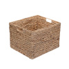 Villacera Rectangle Handmade Wicker Baskets made of Water Hyacinth | Nesting Seagrass Tubs | Set of 2