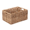 Villacera Rectangle Handmade Twisted Wicker Baskets made of Water Hyacinth | Nesting Natural Seagrass Bins | Set of 2