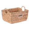 Villacera Dolores Handmade Wicker Water Hyacinth Rectangle Nesting Baskets with Home Label | Set of 2