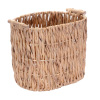 Villacera Oval Handmade Twisted Wicker Baskets made of Water Hyacinth | Tall Nesting Natural Seagrass Tubs | Set of 2