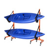 Rolling Kayaks Rack Storage- Self Standing Two Kayaks Cradles With Adjustable Safety Straps and Wheels for Mobility- Indoor Outdoor use by Rad Sportz