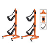 Kayak Double Storage Rack- Self Standing 2 Canoes Kayaks Cradle Set with Adjustable Safety Strap System for Outdoor and Indoor Use by Rad Sportz