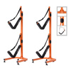 Double Kayak Storage Rack- Self Standing Dual Canoe Kayak Cradle Set with Adjustable Safety Strap System for Outdoor Indoor Use by Rad Sportz