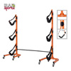 Rolling Kayak Rack Storage- Self Standing Three Canoe Kayak Cradle- Adjustable Safety Strap and Wheels for Mobility- Indoor Outdoor use by Rad Sportz
