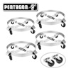 5043 Pentagon Tool | Heavy Duty | 5 and 30-Gallon Drum Dolly | 4-Pack | Silver