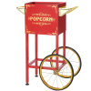 Popcorn Machine Cart- Red Vintage Replacement Cart for 4-8 Ounce Poppers- 2 Shelves, Push Handle & Bicycle Style Wheels by Great Northern Popcorn