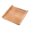 Villacera Handmade 10-inch Mango Wood Square Decorative Serving Tray | Decorative Hand Carved Cooling Platter| Eco-Friendly and Sustainable Wood