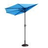 Villacera 9' Outdoor Patio Half Umbrella with 5 Ribs, Fade Resistant Condo or Townhouse Umbrella in Blue
