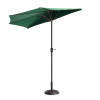 Villacera 9' Outdoor Patio Half Umbrella with 5 Ribs, Fade Resistant Condo or Townhouse Umbrella in Forest Green