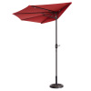 Villacera 9' Outdoor Patio Half Umbrella with 5 Ribs, Fade Resistant Condo or Townhouse Umbrella in Red