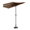 Villacera 9' Outdoor Patio Half Umbrella with 5 Ribs, Fade Resistant Condo or Townhouse Umbrella in Brown