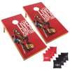 Captain Morgan Cornhole Outdoor Game Set, 2 Wooden Regulation Size Corn Hole Toss Boards with 8 Bean Bags for Adults