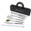 BBQ Grill Tool Set- Stainless Steel Barbecue Grilling Accessories with 7 Utensils and Carrying Case, Includes Spatula, Tongs, Knife By Home-Complete