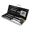 BBQ Grill Tool Set- Stainless Steel Barbecue Grilling Accessories Aluminum Storage Case, Includes Spatula, Tongs, Basting Brush By Home-Complete