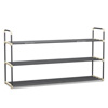 Shoe Rack with 3 Shelves-Three Tiers for 18 Pairs-For Bedroom, Entryway, Hallway, and Closet- Space Saving Storage and Organization by Home-Complete