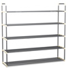 Shoe Rack with 5 Shelves-Five Tiers for 30 Pairs-For Bedroom, Entryway, Hallway, and Closet- Space Saving Storage and Organization by Home-Complete