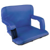 Wide Stadium Seat Chair Bleacher Cushion- Padded Back Support, Armrests, 6 Reclining Positions and Portable Carry Straps By Wakeman Outdoors (Blue)