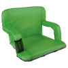 Wide Stadium Seat Chair Bleacher Cushion- Padded Back Support, Armrests, 6 Reclining Positions and Portable Carry Straps By Wakeman Outdoors (Green)