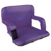 Wide Stadium Seat Chair Bleacher Cushion with Padded Back Support, Armrests, 6 Reclining Positions and Portable Carry Straps By Home-Complete (Purple)