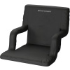Stadium Seat Chair- Wide Bleacher Cushion with Padded Back Support, Armrests, 6 Reclining Positions and Portable Carry Straps By Home-Complete